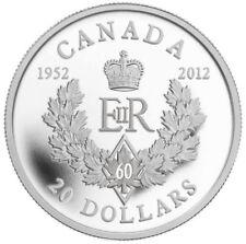 Royal Cypher - 2012 Canada $20 Fine Silver Coin - Queen's Diamond Jubilee