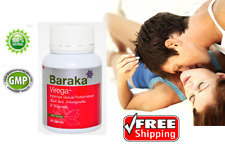 Natural Sex Enhancer 100% Performance Herbal Supplement 60Capsule Baraka Virega+