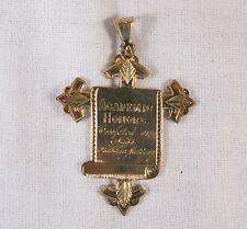 ANTIQUE AMERICAN GOLD 19th CENTURY REWARD OF MERIT,ST.ELIZABETH'S,MADISON,N.J.