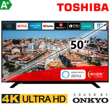 "Toshiba 50"" Zoll Fernseher Smart TV UHD 4K Ultra HD NETFLIX Prime HDR 126 cm NEU"