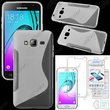 Coque Silicone S-line Transparent Samsung Galaxy J3 SM-J300F +Film Verre Trempé