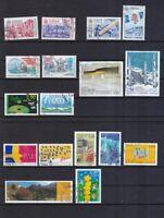 Andorra französische Post gestempelt Europa Marken aus den Jahren 1990-2000