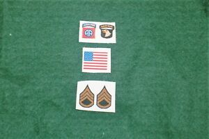 1/6 scale WW2 US 101st 82nd Airborne Patch lot