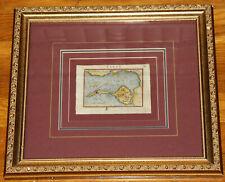 "1601 Ortelius Bay of Cadiz Spain map - framed size 14.3"" x 13.1"" - Antique -"