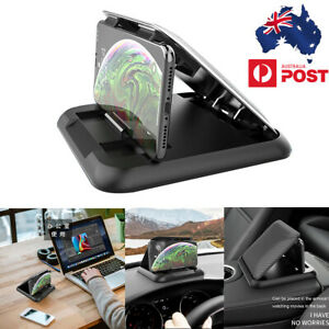 Black Silicone Car Cell Phone Holder Stand HUD Design Cradle For iPhone Samsung