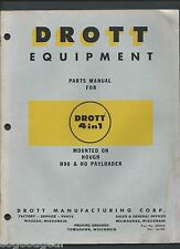 DROTT 4 IN 1 ON HOUGH H90 & HO PAYLOADER PARTS INSTRUCTION BOOK