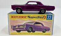 Matchbox Superfast No. 22 Pontiac Grand Prix Sports Coupe in Original Box