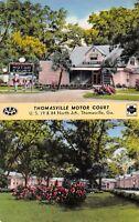 Thomasville Georgia GA 1960s Postcard Thomasville Motor Court