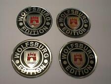70 mm (W1) Alliage Centre Roue Badges Wolfsburg VW Drapeau