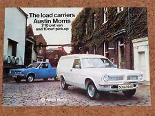 1977 AUSTIN MORRIS 7/10CWT VAN & PICKUP Sales Brochure (Marina)