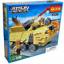 ESERCITO MILITARE MISSILE artiliary CANNON SOLDIER GUERRA Kids Playset - 28 PEZZI
