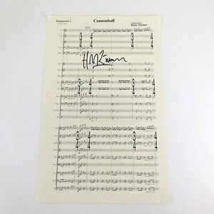 Hans Zimmer signed Cannonball Sheet Music From Madagascar 3
