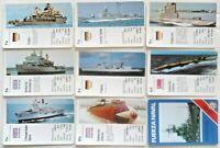 Warships of The World 33 Card Vintage Warships of The World 1987 Spanish Set