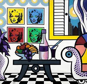 "JOZZA ""NEW YORK LIVING ROOM"" | SIGNED GICLEE/CANVAS | POP ART MARILYN MONROE"