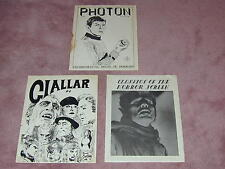 Fanzine covers from 1960's: Photon # 13, Classics Horror Screen # 2, Giallar # 6