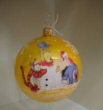 Pallina Natale WINNIE THE POOH  Disney Vetro Decorata a Mano Oro TIGRO