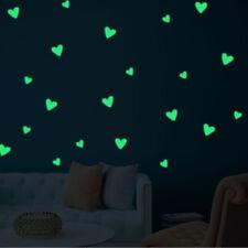 Glow In The Dark Star Wall Stickers Heart Love Luminous Kids Room Decor Decals