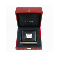 Cartier Cushion Tabletop Clock with Alarm W0100038 in Cartier BOX