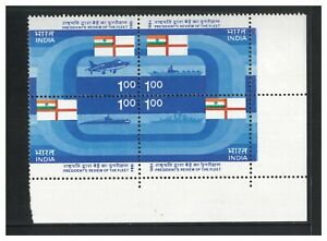 India 1984 Fleet Review Block of 4 Stamps SG1114a Mint Unhinged 5-9
