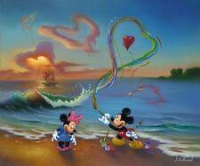 wall decor disney painting HD printed on canvas Jim Warren Mickey Romantic