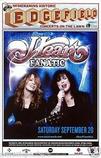 "HEART ""FANATIC"" 2014 PORTLAND CONCERT TOUR POSTER - Ann Singing & Nancy Playing"