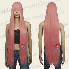 40 inch Hi_Temp Series Milkshake Pink Face frame Long Cosplay DNA Wigs VLKPN