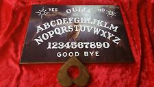 Laminated sheet Ouija Board Spirit Owl & Planchette ghost hunt & instructions