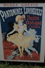 Jules Cheret Art Nouveau Framed Poster 'Pantomines Lumineuses' Musee Grevin