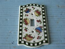 Mary Engelbreit Bowl Of Cherries Ceramic Light Switch Plate