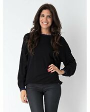 BNWT YUKA PARIS YU.K 14AH083 WOMENS LOOSE FIT BLACK SWEATER JUMPER MEDIUM T2