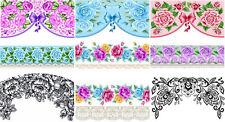 Wraps French Blumen Fingernagel Nail Art Tattoo Sticker Decal Folie Aufkleber