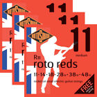 3 Sets Packs Rotosound R11 Roto Reds Electric Guitar Strings Medium (11-48) for sale