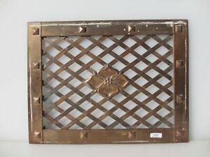 "Antique Copper Air Vent Grate Grille Ventilation Old Vintage Flower Stud 14""x11"""