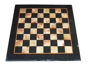 "18"" chess marble Table top Semi Precious Stones Pietra Dura work"