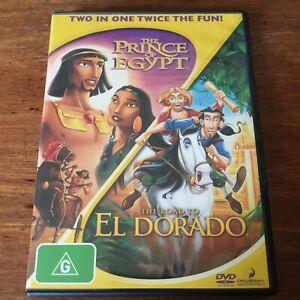 The Prince of Egypt & The Road to El Dorado DVD R4 Like New! FREE POST