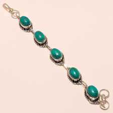 Turquoise Bracelet Silver Plated Gemstone Bracelet Fashion Jewelry