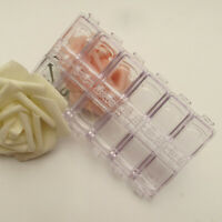 12 Grids Empty Storage Container Box Case for Nail Art Tips Rhinestone Gems GO9Z