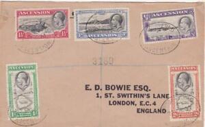 ASCENSION GEORGE V PART COVER  POSTED REGISTERED 1937