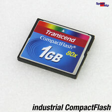 1GB CF TRANSCEND COMPACT FLASH INDUSTRIAL 80X HIGHSPEED SSD FOR PC CAMERAS CANON