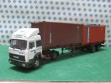 FIAT IVECO Turbostar  Semirimorchio Ralla Porta container  -1/43 CLM Hi-Tech
