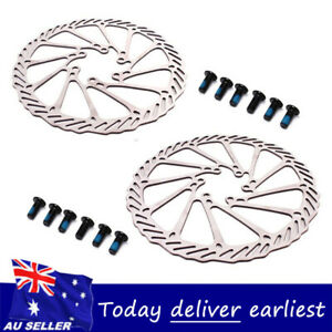MTB Bike 160mm/180mm/203mm Disc Brake Rotors Bicycle 6 Bolts Stainless Steel AU