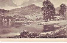 Raphael Tuck Card RYDAL WATER by Artist F W Hayes 1902 Undivided Rear Postcard.