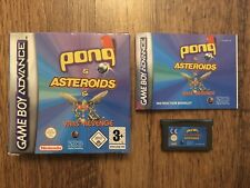 Nintendo Gameboy Advance GBA Pong & Asteroids Boxed Complete w/Instructions