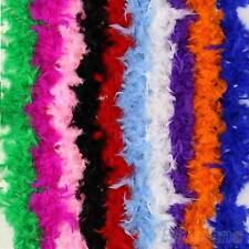 2M,Feather Boa Strip Fluffy Craft Costume Fancy Dress Party Wedding Decoration