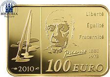 Frankreich 100 Euro Gold 2010 PP Goldmünze Bedeutende Maler: Pablo Picasso