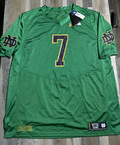 New Under Armour Notre Dame Football Jersey Men's SZ 3XL NWT Green