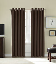 "90"" x 90 "" Eyelet Luxury Fully Lined Thermal Blackout Lined Ring Curtains Thick"