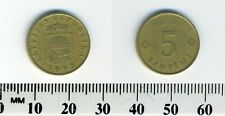 Latvia 1992 - 5 Santimi Brass Coin - Lined arch above value