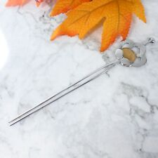 "Vintage Japanese Kimono Kanzashi Sakura Floral Design Hair Pin Metal Stick 7.75"""
