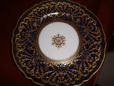 exquisite nippon plate hand painted with moriage and gold beading 10 inch,